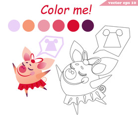 coloring book with the dancing pig girl