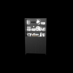 3d render kitchenware and table