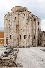 Church of St Donatus in Zadar, Croatia, built in the 9th century. The church is an example of a Pre-Romanesque building typical for the Carolingian period in Europe.