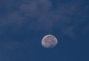 Half moon on September 29, 2018