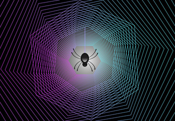 Spider web abstract logo