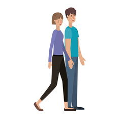 young couple avatar character