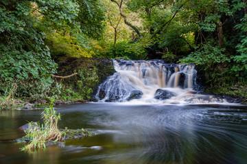 Spectacle E'e Falls, near Strathaven and Sandford, Scotland, UK