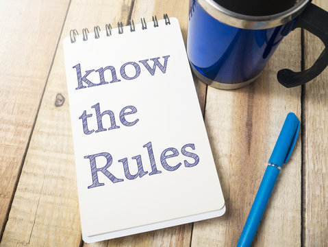 Know the Rules, Motivational Words Quotes Concept