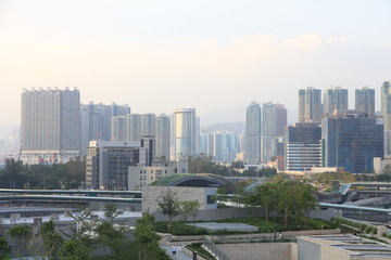 Skyline of Kowloon Peninsula, Hong Kong