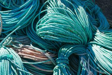 Bundles of blue ropep