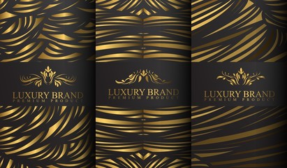Set of luxury logo templates