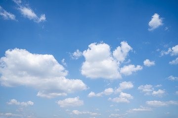 The blue sky and white clouds..