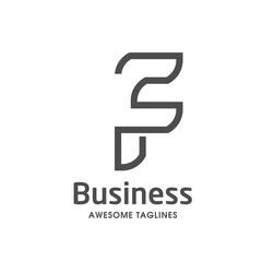 unique letter F creative logo template vector illustration, Logo for corporate identity of company of letter F