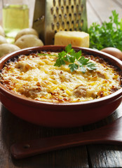 Homemade potato casserole