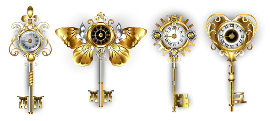 Antique keys with dials