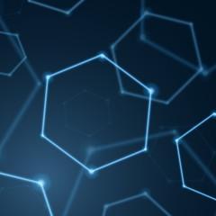 Abstract hexagon background, molecular sci fi scientific design. Graphic concept for your design