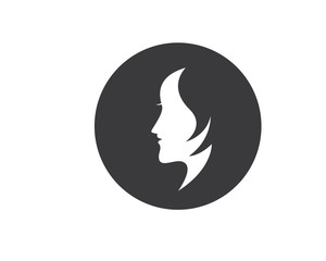 woman face silhouette character illustration