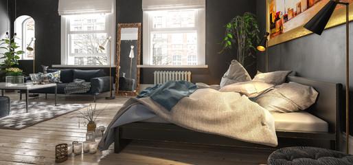 Luxury Bedroom (panoramic)