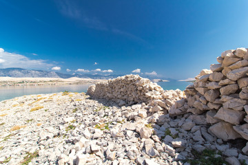 Stone Walls on the Island of Pag, Croatia