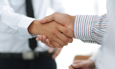 business handshake financial partners.the concept of support