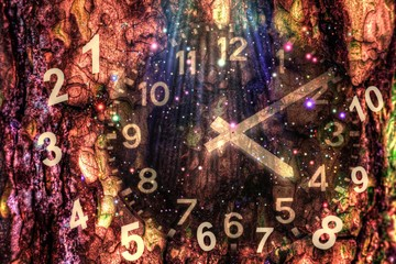 Force of time and ancient numerology