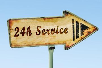 Schild 328 - 24h Service