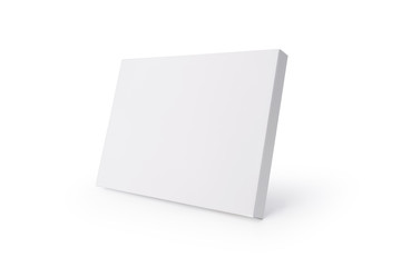 White carton box on isolated background with clipping path. Thin cardbox package for your design.
