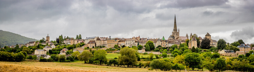 Panorama sur la ville d'Autun