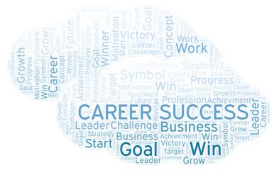 Career Success word cloud.