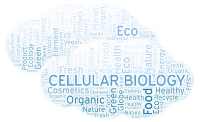 Cellular Biology word cloud.