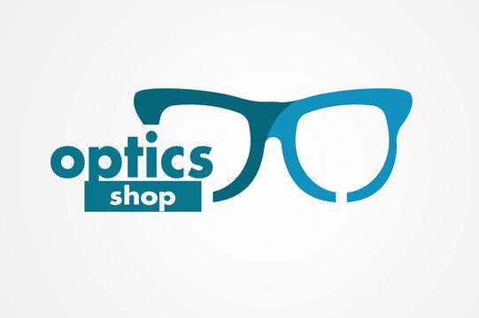 optics store. glasses logo