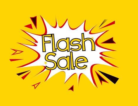 flash sale pop art