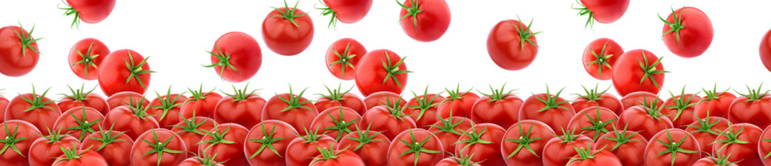 Seamless pattern with fresh tomatoes