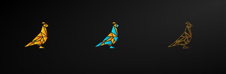 mosaic bird icon illustration design