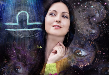 Libra zodiac sign,woman and astrology