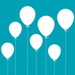 arrière-plan, ballon bleu