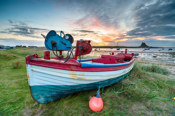 Fishing Boats at Lindisfarne Harbour