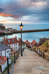 Wall Mural - Night Falls Over Whitby