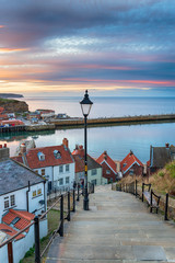 Wall Mural - The 199 Steps at Whitby in Yorkshire