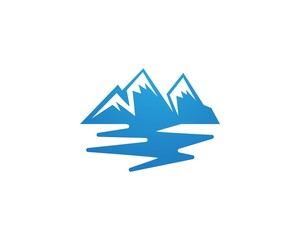 Mountain logo business template vector