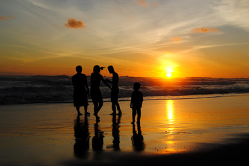 Family holiday at Parangtritis beach, Yogyakarta, Indonesia
