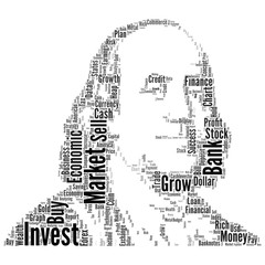 Economic and stock market wording to be Franklin portrait