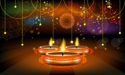 Vector Diwali Festival Sale Poster or Flyer or advertisement Layout Template.