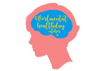 Fototapeta World mental health day obraz