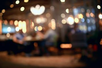 blurred background in restaurant interior / serving and details in blurred bokeh background, concept catering, restaurant modern
