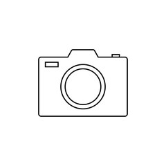 Camera vector icon. Photo line vector icon for websites and mobile minimalistic flat design. Outline pictogram on white background