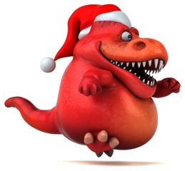 Fun dinosaur- 3D Illustration