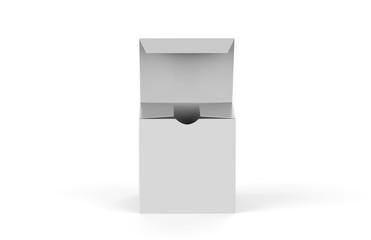 White square blank box isolated on white background, 3d illustration