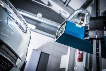 Car Headlight Adjustment Check