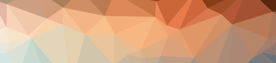 Illustration of beautiful orange low poly background.