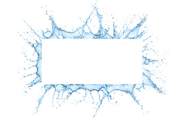 Water splash frame Wall mural