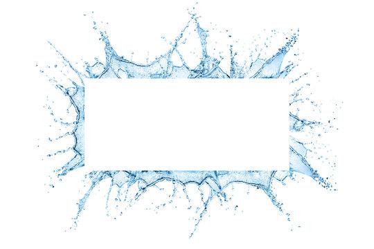 Water splash frame