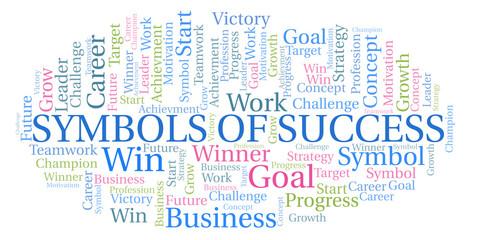 Symbols Of Success word cloud.