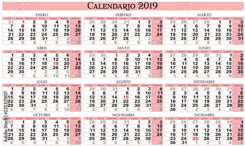 Calendario Vectorizado.Calendario 2019 Stock Image And Royalty Free Vector Files